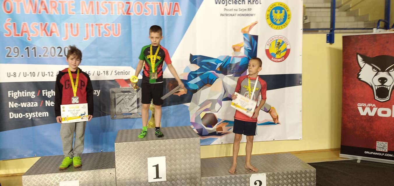 Nasze Orły na Otwartych Mistrzostwach Śląska w Ju Jitsu