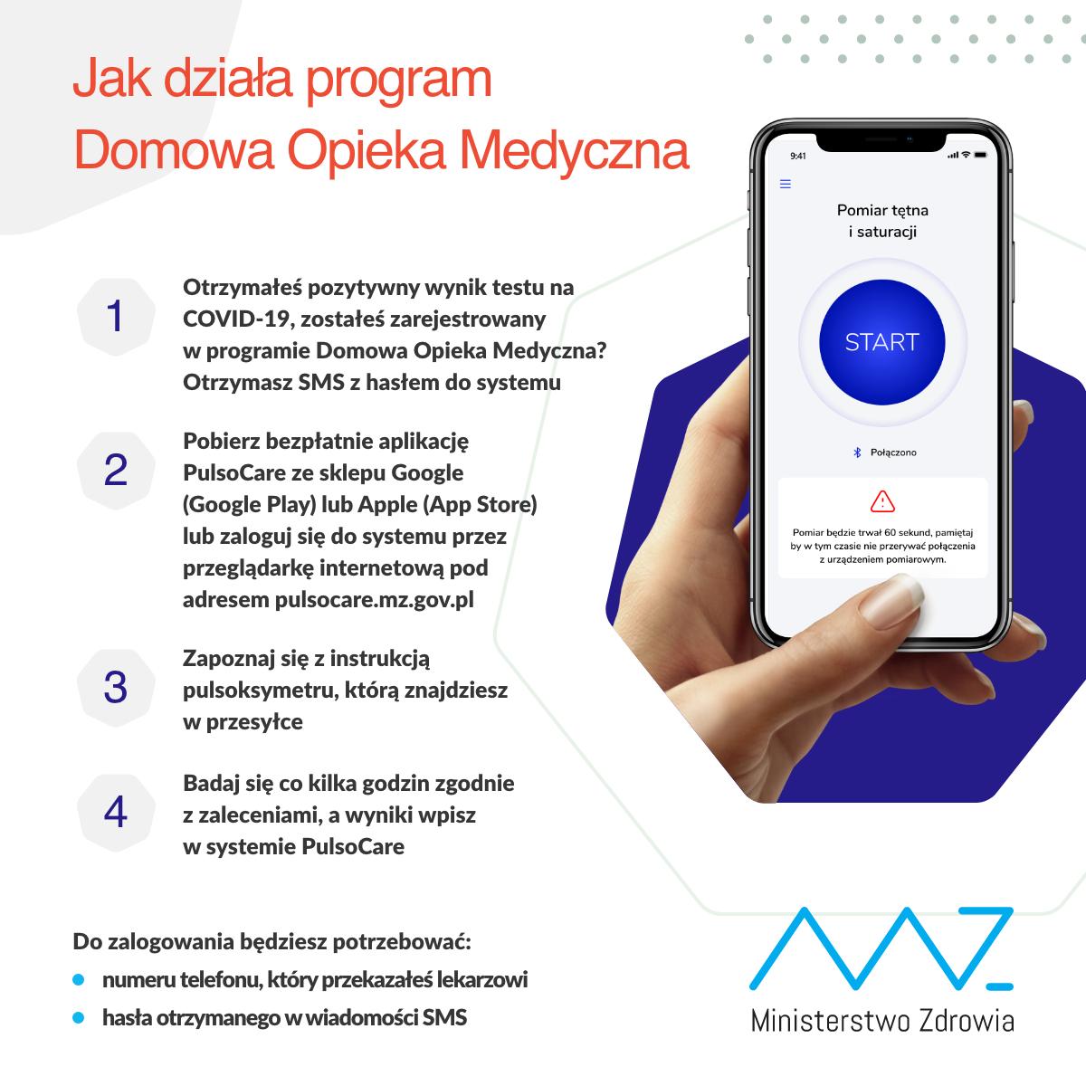 Ulotka informująca, jak działa program Darmowej Opieki Zdrowotnej