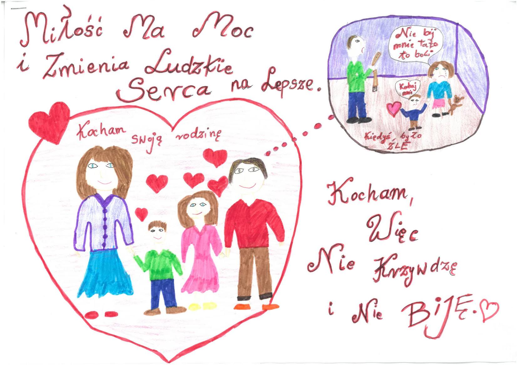 """Zwycięskie prace w konkursie #LepiejPrzytul """"Miłość ma moc"""""""