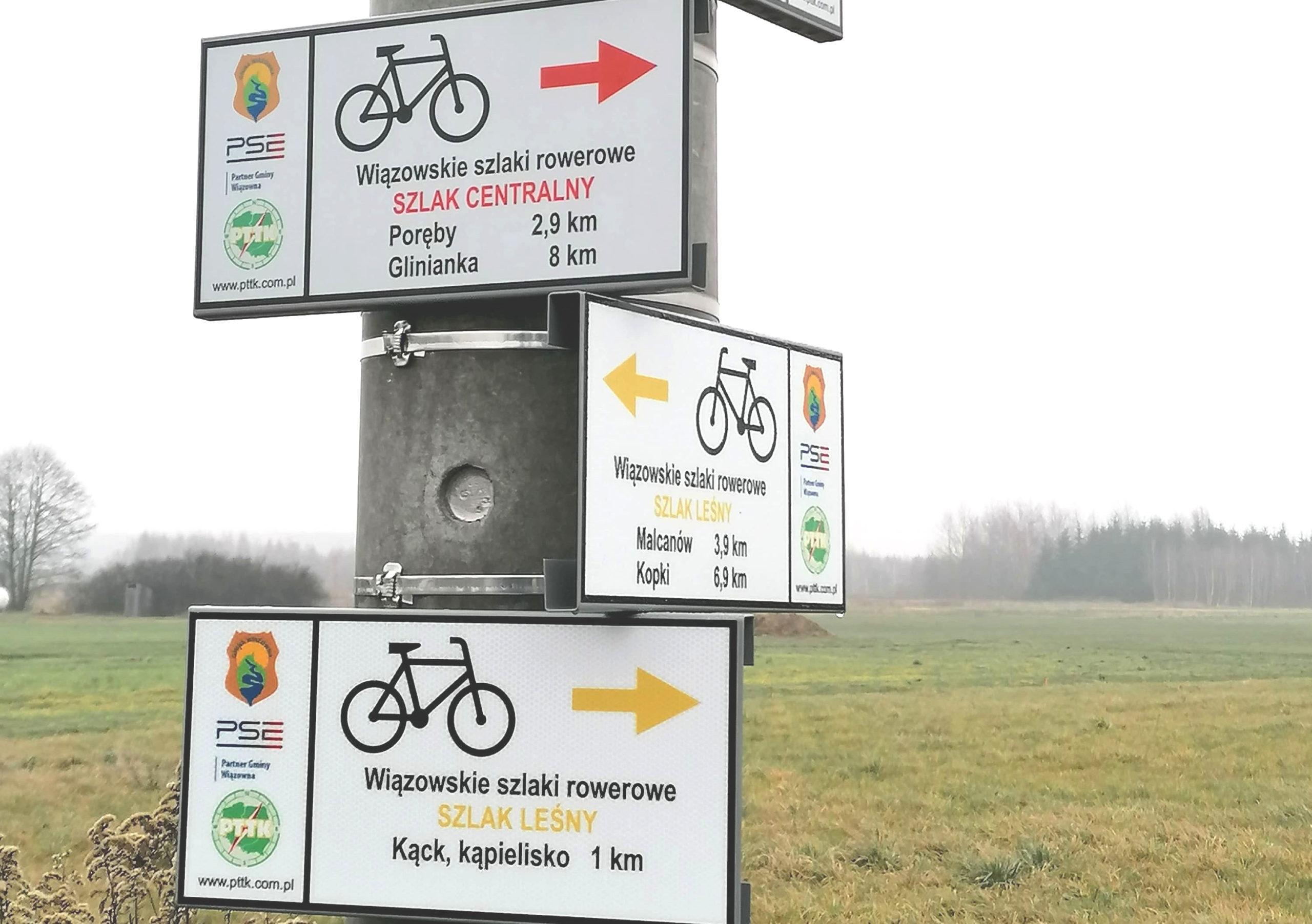 Oddaliśmy kolejne dwa szlaki rowerowe, których trasy biegną przez tereny naszej gminy