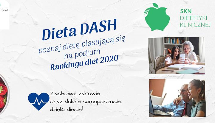 Plakat informujący o diecie DASH