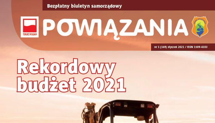 """Okładka styczniowych """"Powiązań"""" 2021 r."""
