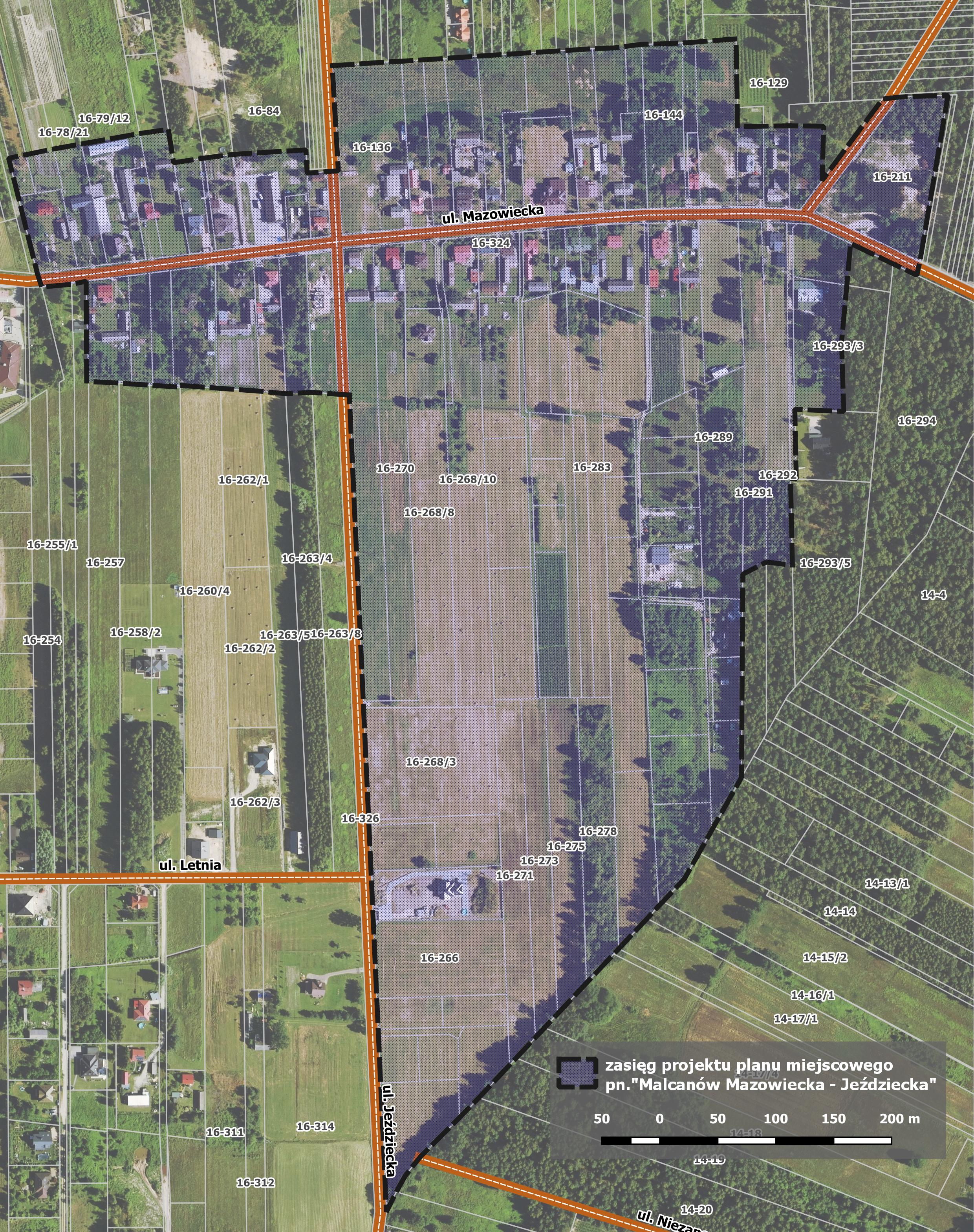 Projekt miejscowego planu Malcanów Mazowiecka -Jeździecka
