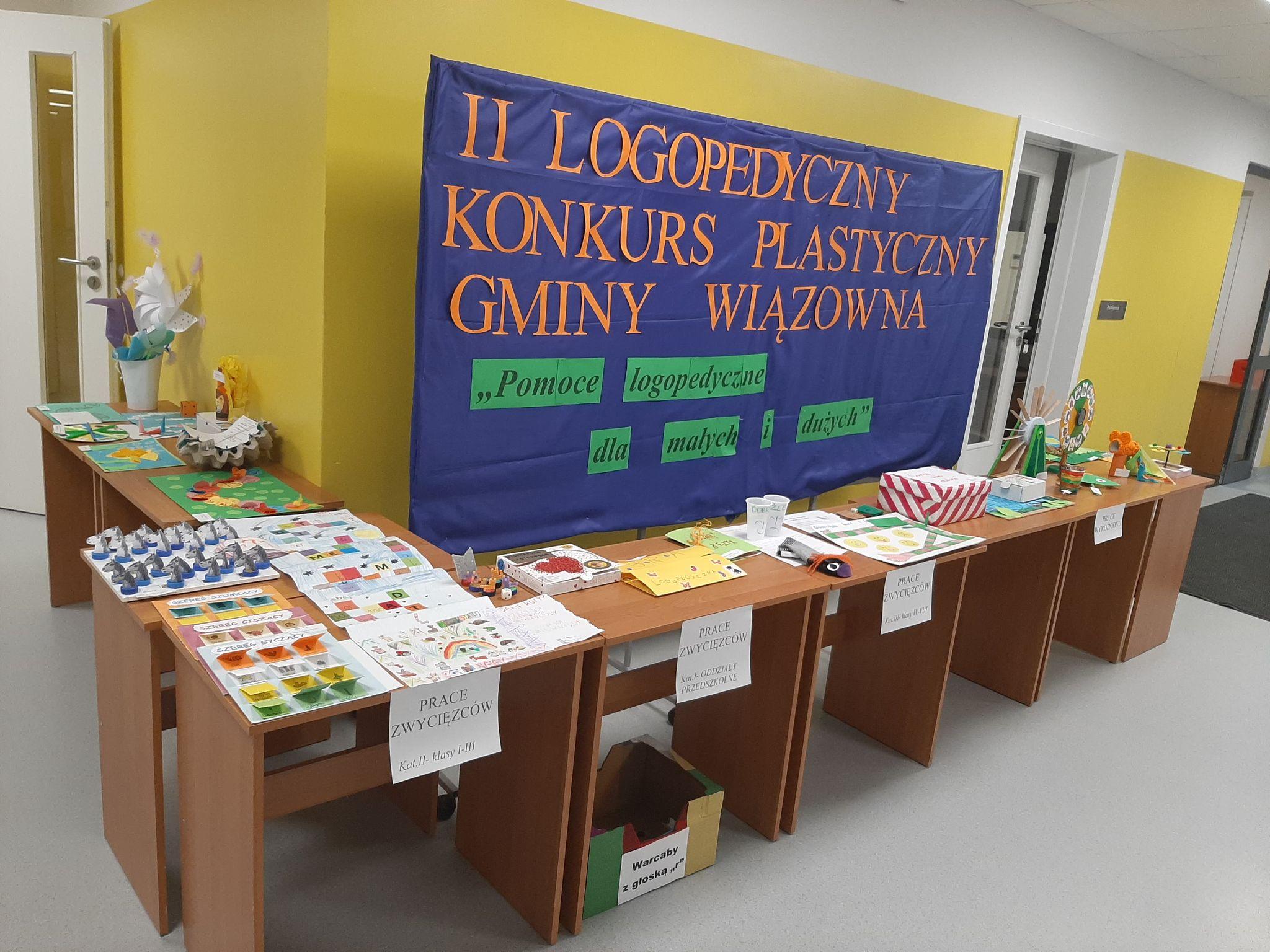 """Prace w konkursie plastycznym """"Pomoce logopedyczne dla małych i dużych"""""""