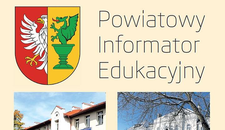 Logo Powiatu Otwockiego. Napis: Powiatowy Informator Edukacyjny