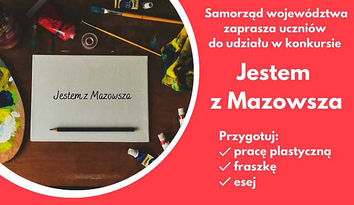 """Plakat konkursy """"Jestem z Mazowsza"""""""