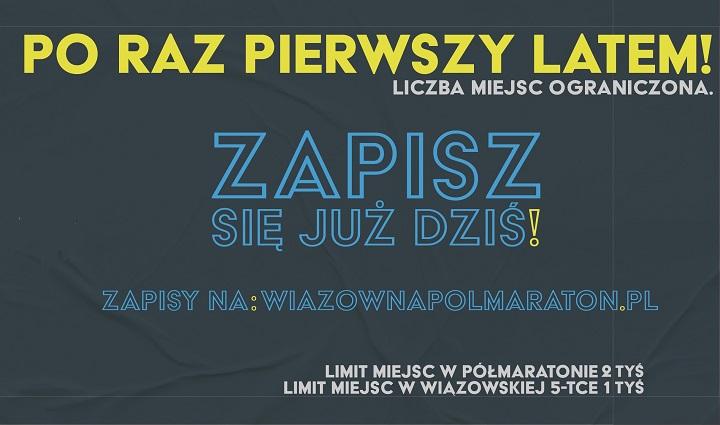 Ruszyły zapisy na 41. Półmaraton Wiązowski