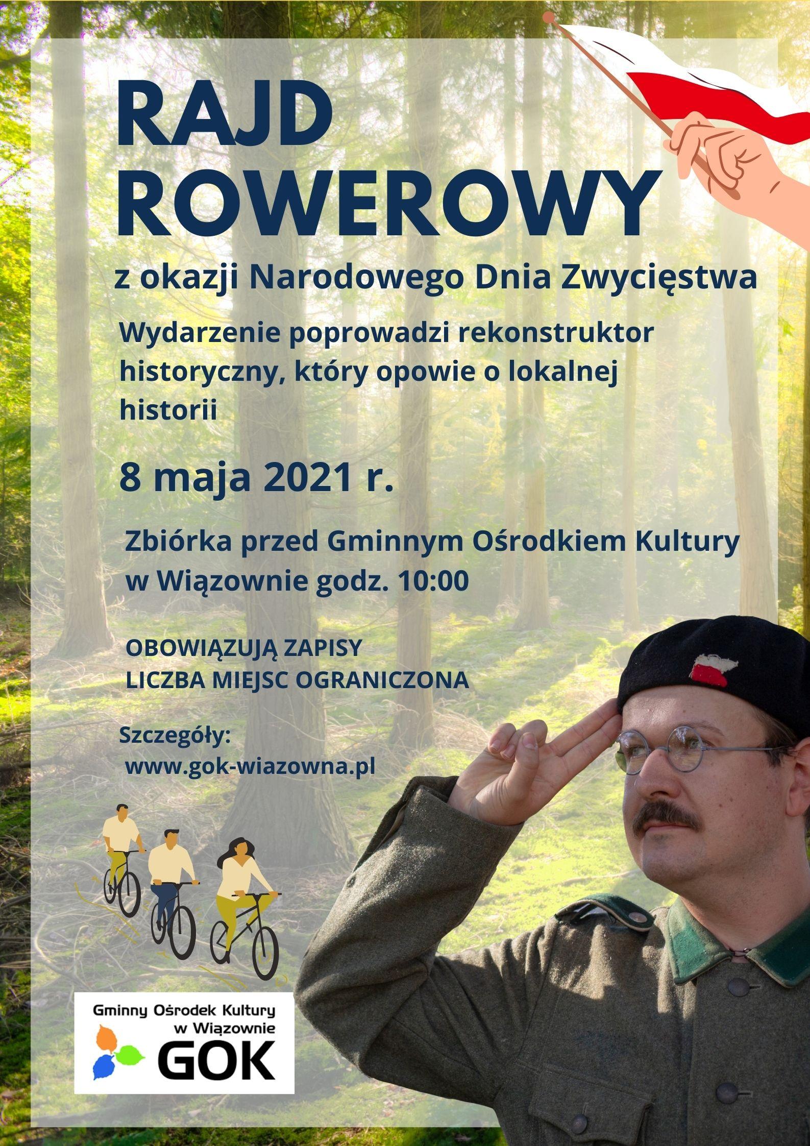 Informacja o rajdzie rowerowym z okazji Narodowego Dnia Zwycięstwa