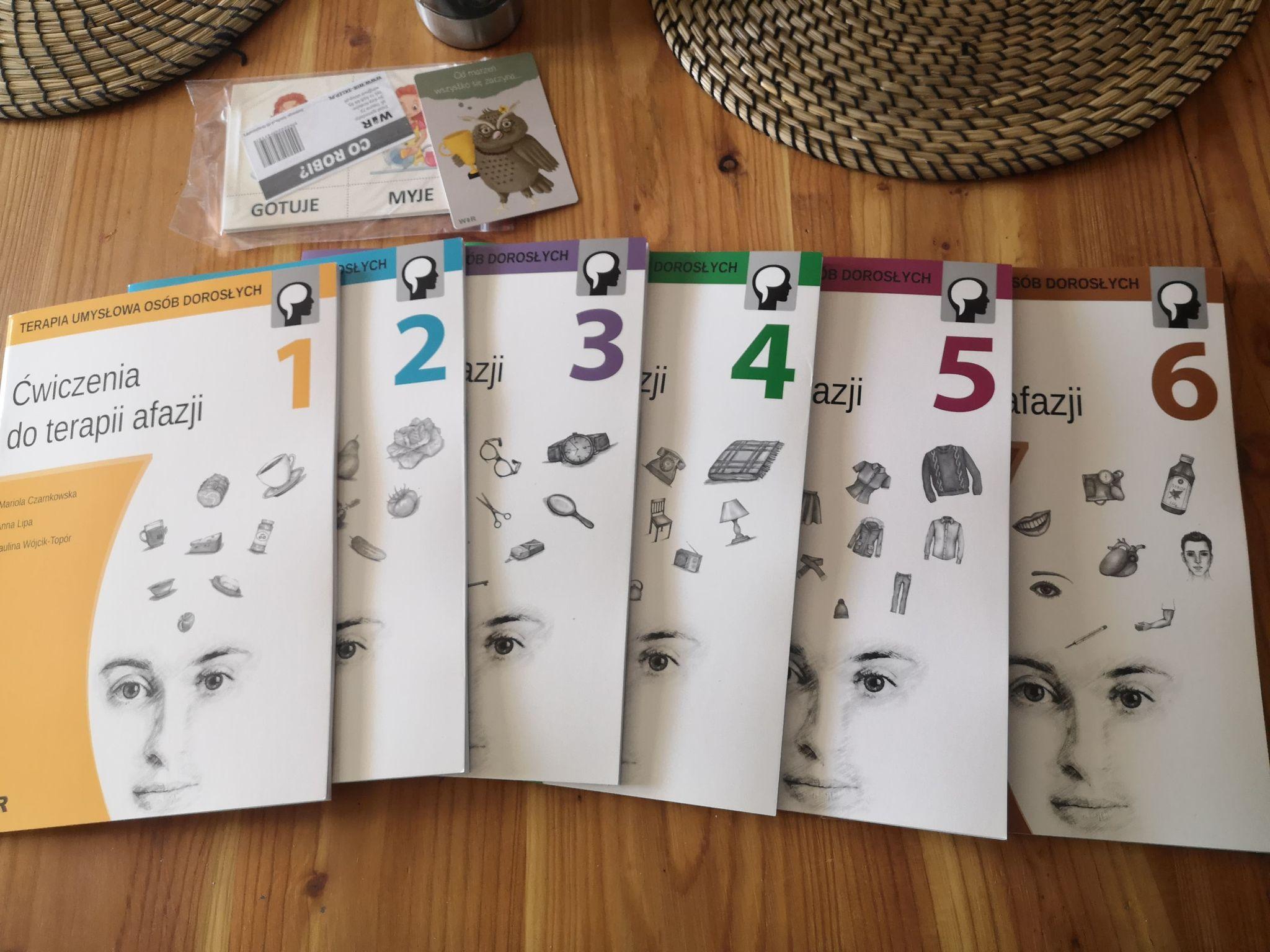 Materiały - zeszyty do zajęć z terapii afazji
