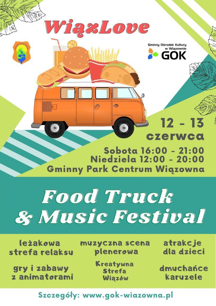 Plakat imprezy gminnej WiązoLove w Wiązownie
