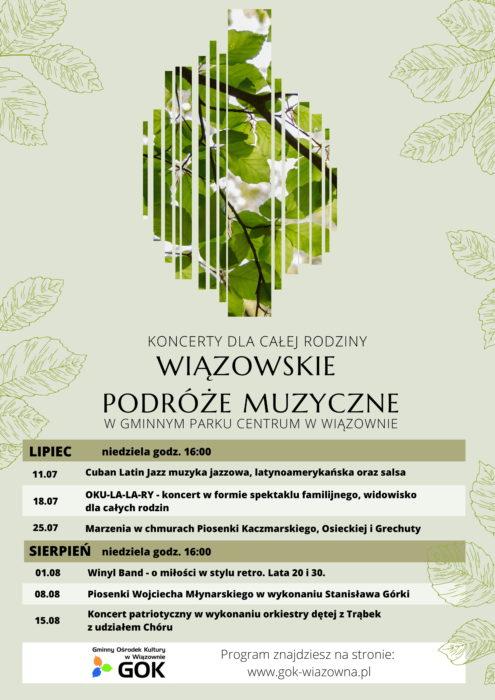 Wiązowskie Podróże Muzyczne - wakacyjny cykl koncertów