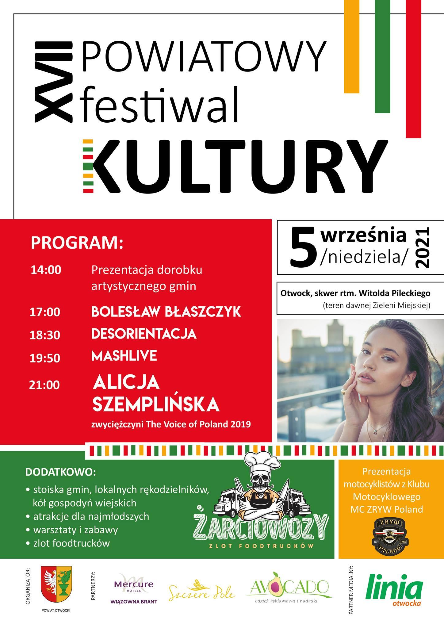 Już 5 września w Otwocku odbędzie się XVII Powiatowy Festiwal Kultury w Otwocku.