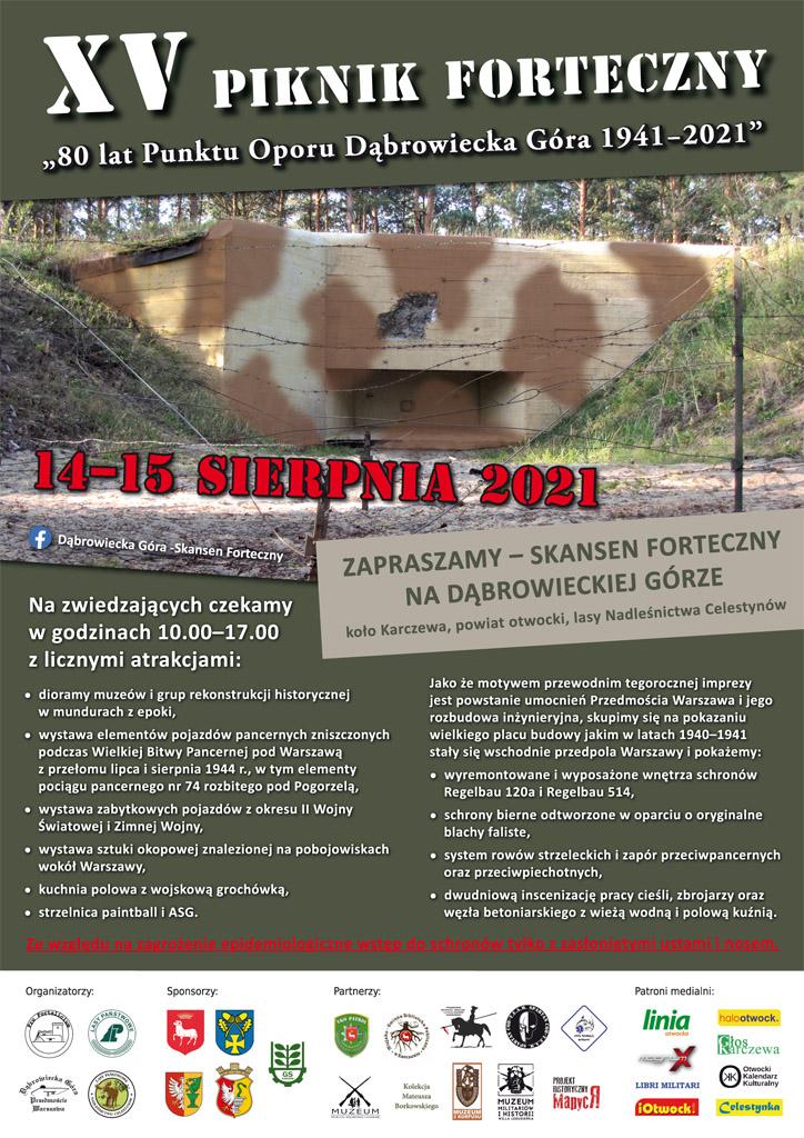 XV Piknik Forteczny na Dąbrowieckiej Górze odbędzie się 14 - 15 sierpnia 2021 r.