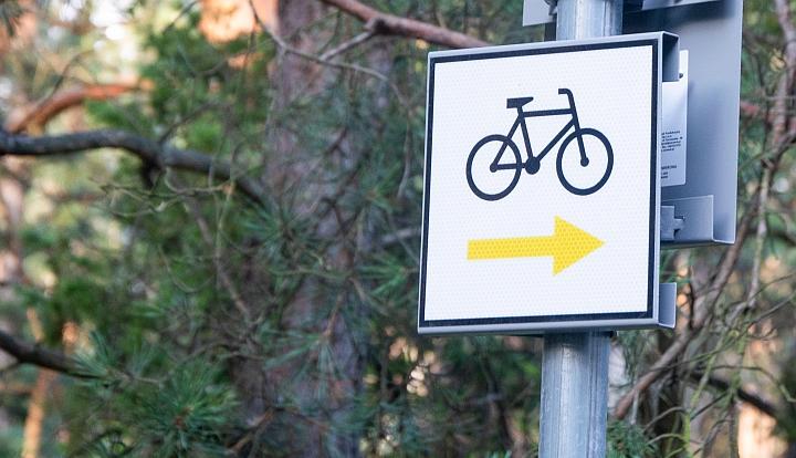 Żółty szlak rowerowy Kopki - Kąck wytyczyliśmy w 2020 r.
