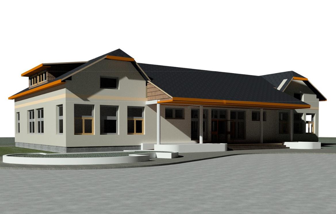 Wizualizacja Duchnowskiego Domu Kultury