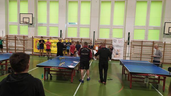 II Turniej Grand Prix Wiązowny w Tenisie Stołowym 2021. Wręczanie nagród