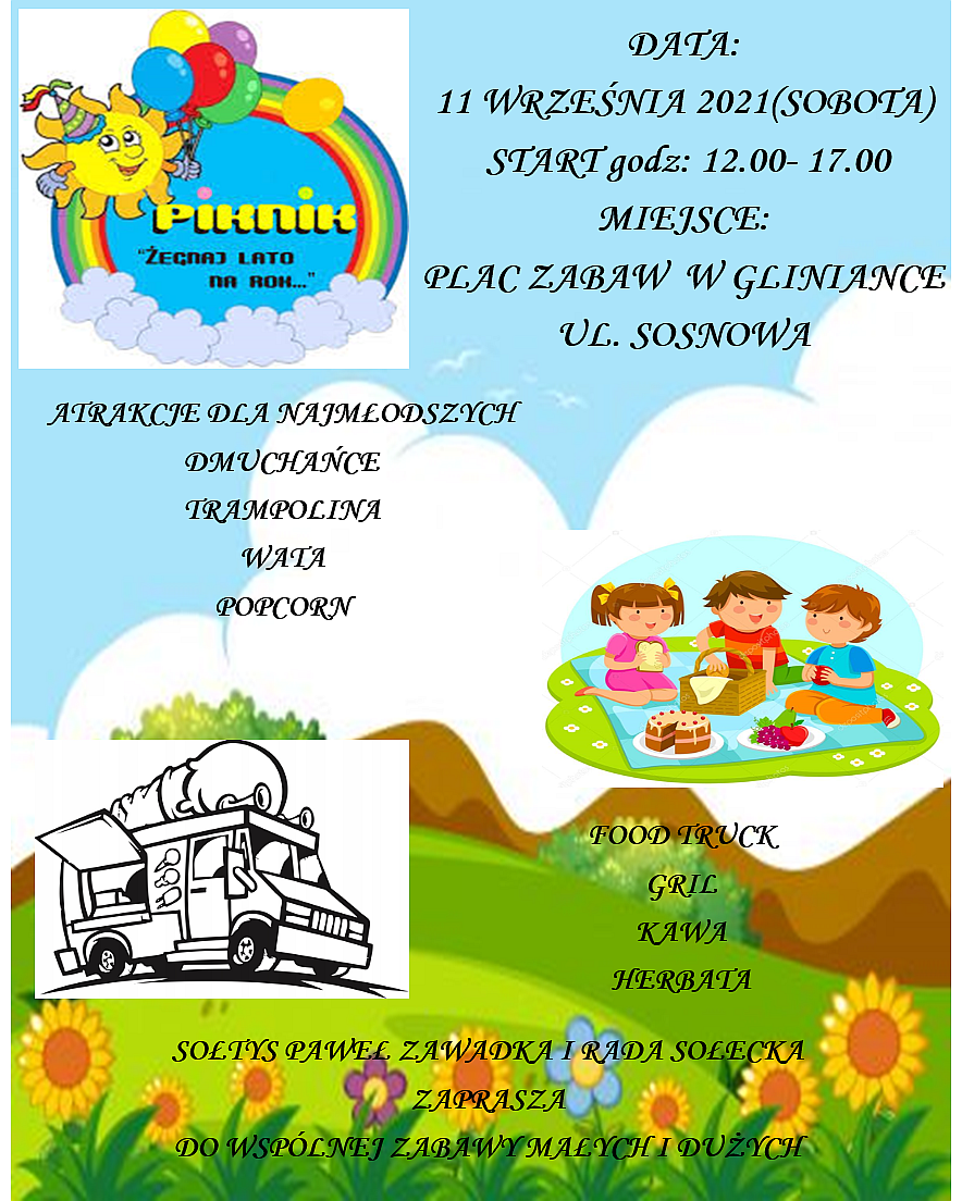 Piknik w Gliniance, 11 września w godz.12.00 - 17.00