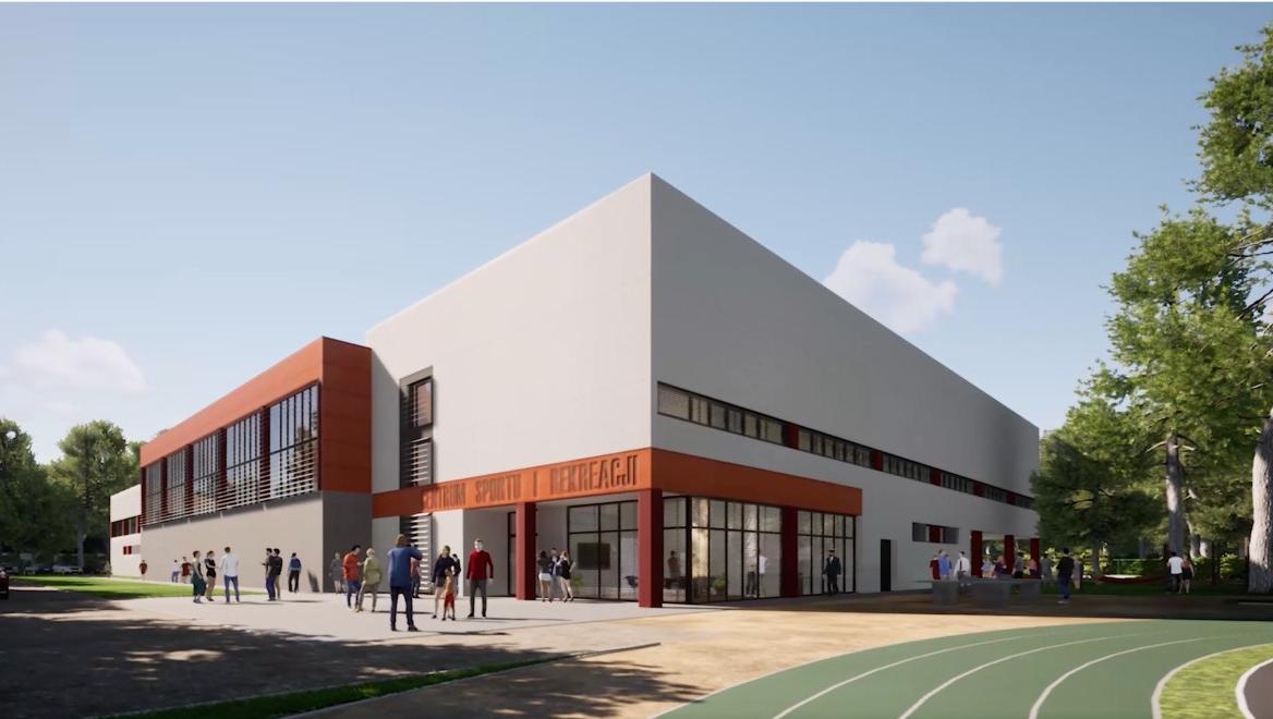 Wizualizacja Centrum Sportu przy ul. sportowej w Wiązownie