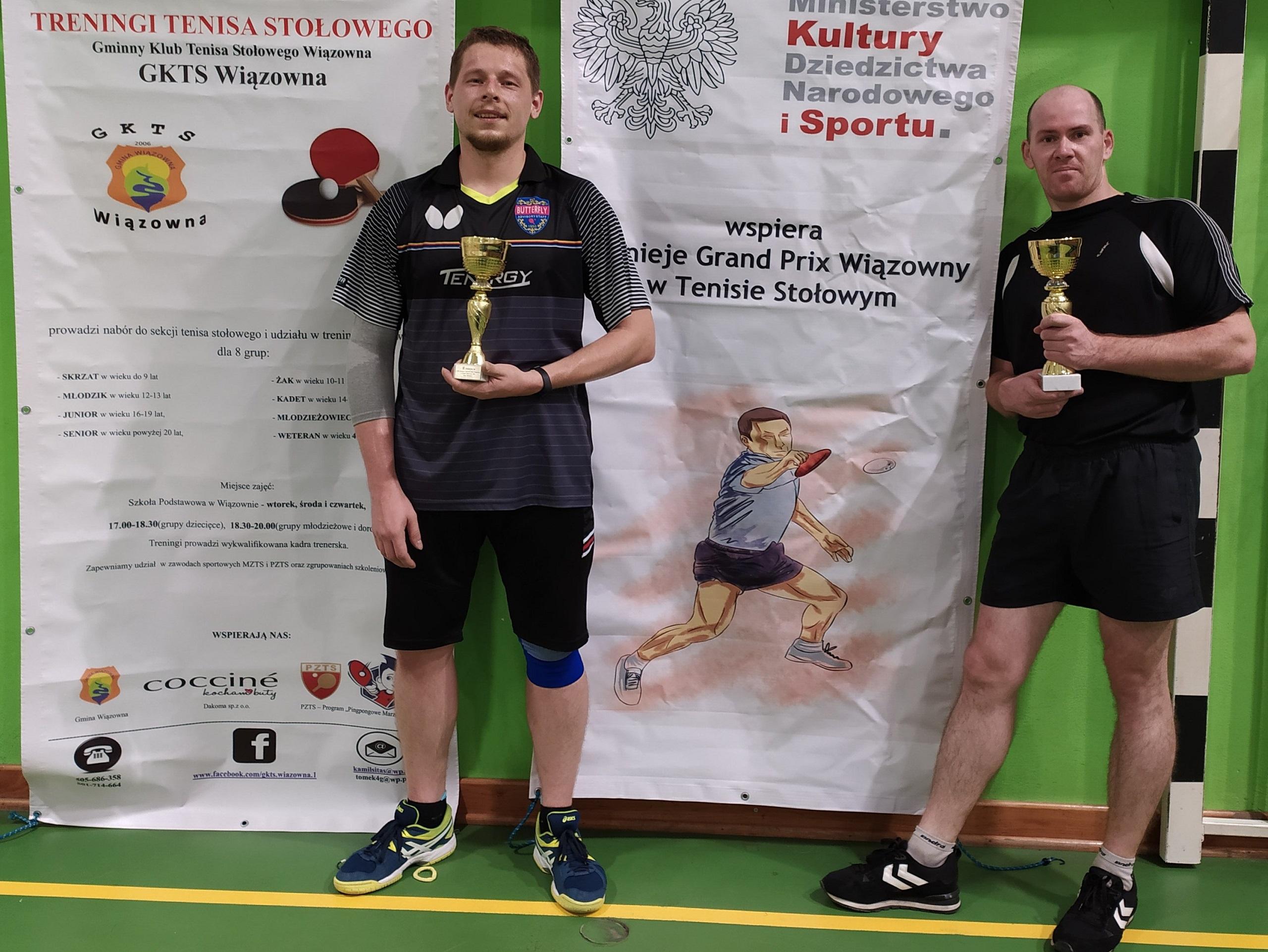 Zawodnicy podczas III Turnieju Grand Prix Wiązowny w Tenisie Stołowym 2021