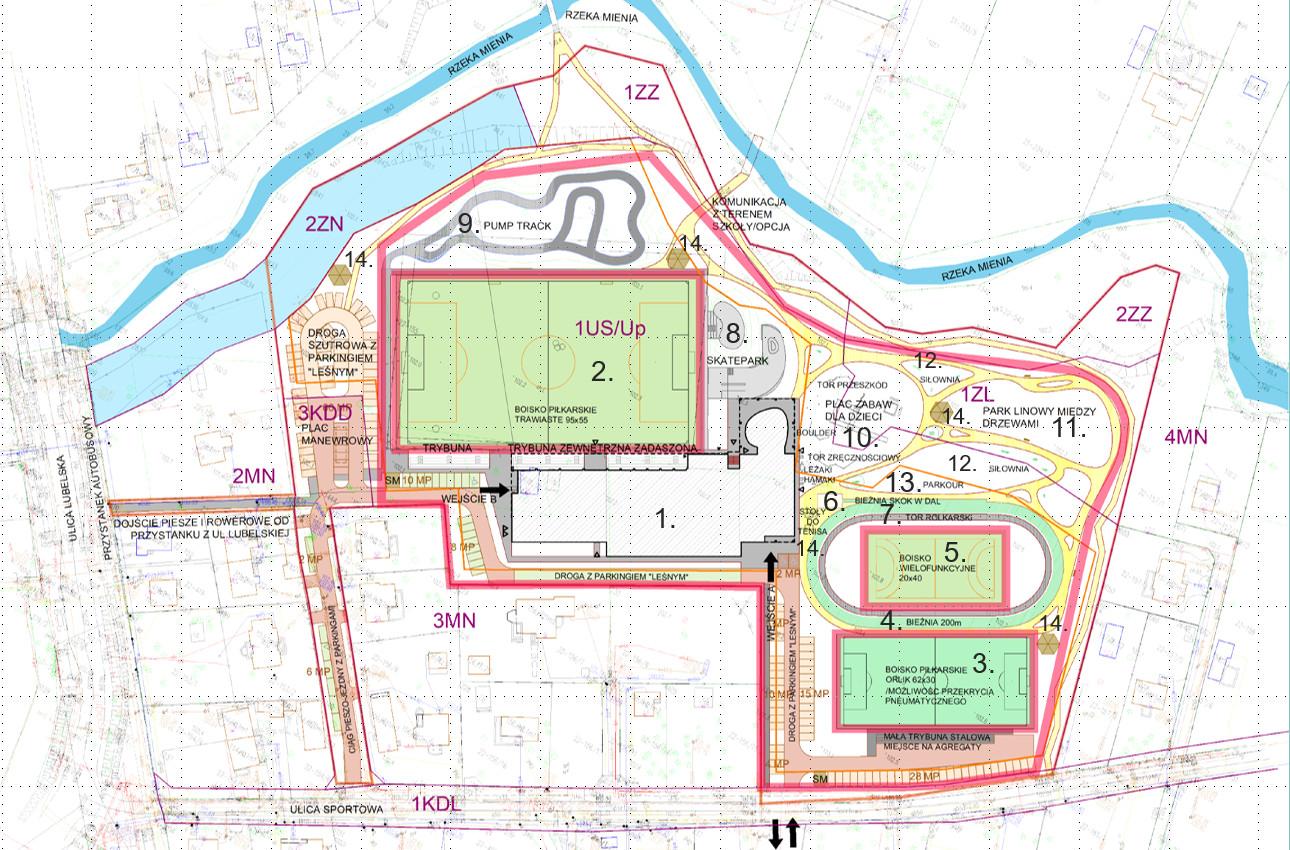 Centrum Sportu przy ul. sportowej w Wiązownie - plany