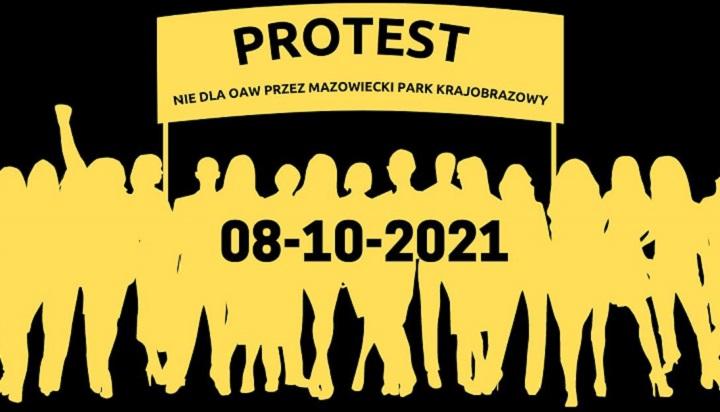 PROTEST ULICZNY pod GDDKiA - Nie dla OAW przez Mazowiecki Park Krajobrazowy