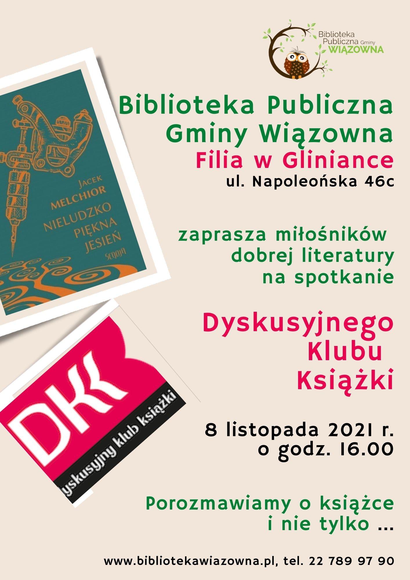 Dyskusyjny Klub Książki rusza. Pierwsze spotkanie odbędzie się 8 listopada w bibliotece w Gliniance.