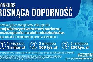 """Plakat konkursu """"Rosnąca Odporność"""""""